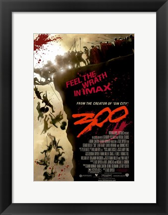 Framed 300 Feel the Wriath in Imax Print