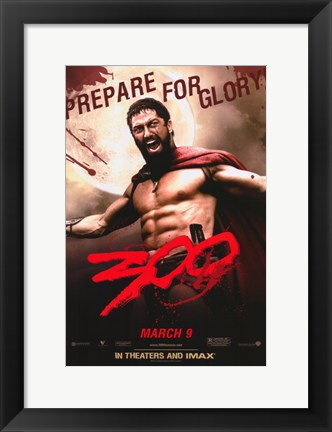 Framed 300 Prepare for Glory King Leonidas Print