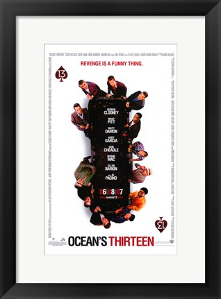 Framed Ocean's Thirteen (White) Print