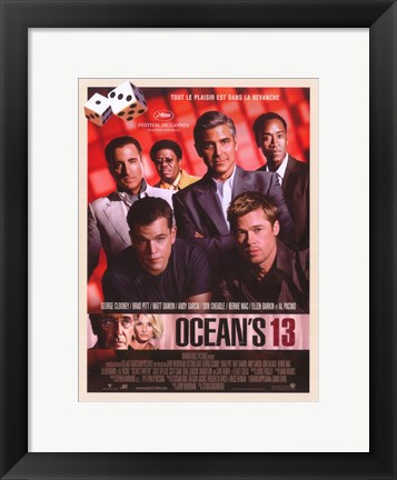 Framed Ocean's Thirteen (DVD Promotional) Print