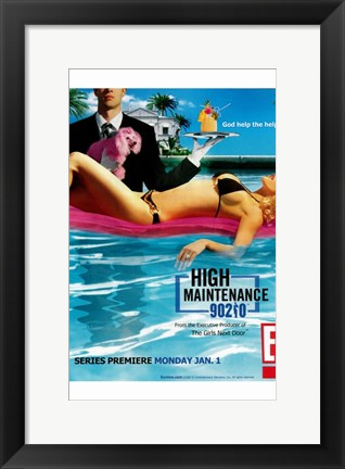 Framed High Maintenance 90210 Print