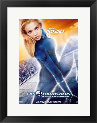 Framed Fantastic Four: Rise of the Silver Surfer - Susan Storm Print