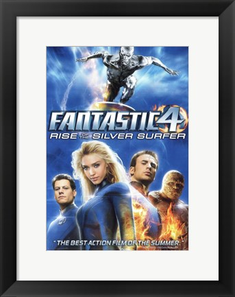 Framed Fantastic Four: Rise of the Silver Surfer Movie Posters Print