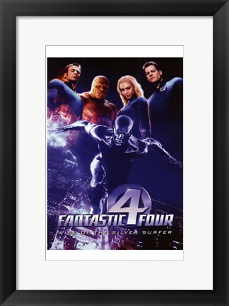 Framed Rise of the Silver Surfer Fantastic Four Print