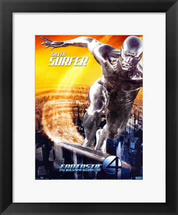 Framed Fantastic Four: Rise of the Silver Surfer - Silver Surfer Print