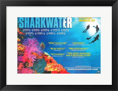 Framed Sharkwater Print
