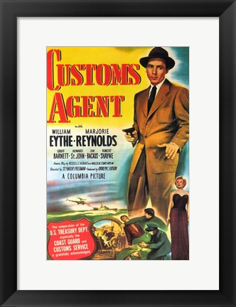 Framed Customs Agent Print