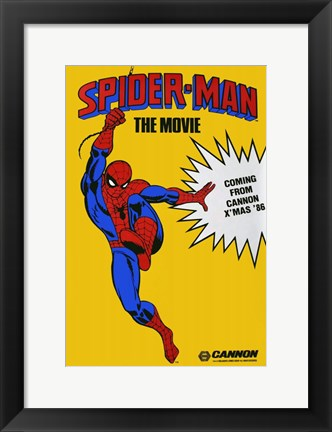 Framed Spider-man The Movie Print