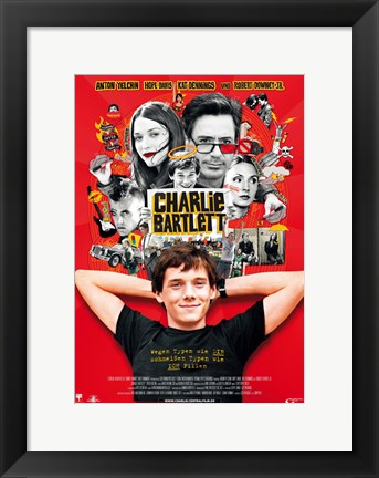 Framed Charlie Bartlett German Print