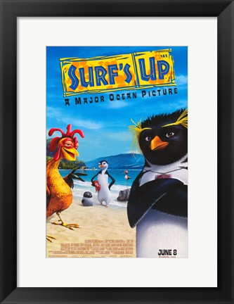 Framed Surf's Up - A Major Ocean Picture Print