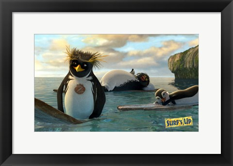 Framed Surf's Up - laying on surf boards Print