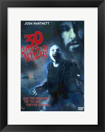 Framed 30 Days of Night Scary Print