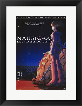Framed Nausicaa of the Valley of the Winds Print