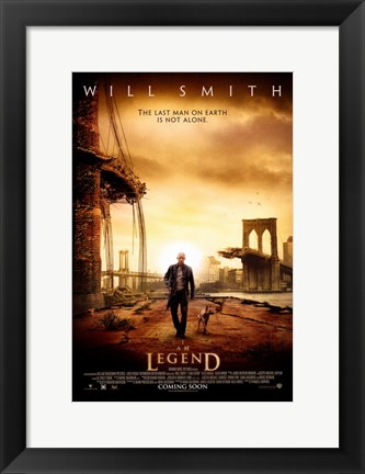 Framed I Am Legend - Will Smith Print
