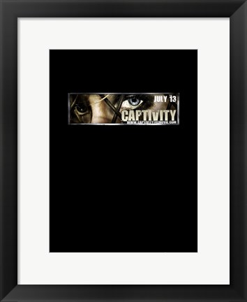 Framed Captivity Black Print
