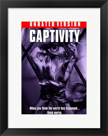 Framed Captivity Unrated Print
