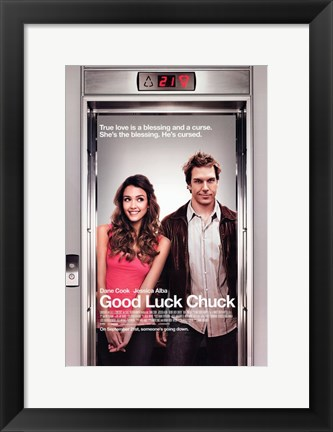 Framed Good Luck Chuck - Elevator Print