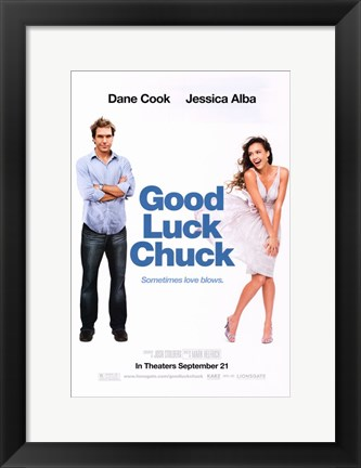 Framed Good Luck Chuck - Dane Cook Print
