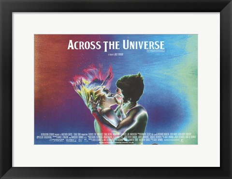 Framed Across the Universe Psychodelic Print