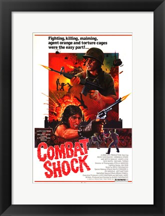 Framed Combat Shock Print
