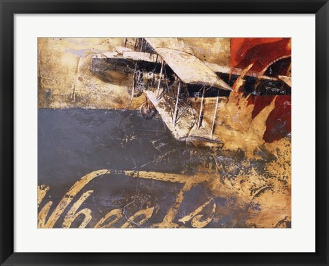 Framed Wheels and Wings Print