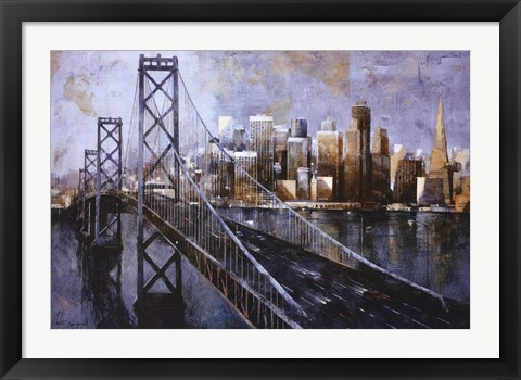 Framed Bay Bridge Print