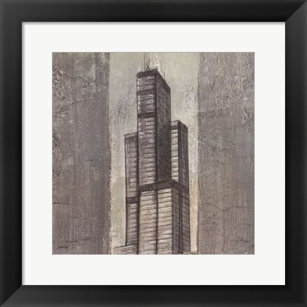 Framed Chicago I Print