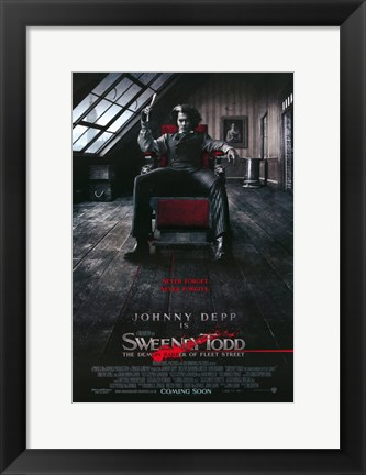 Framed Sweeney Todd Barber in Chair Print