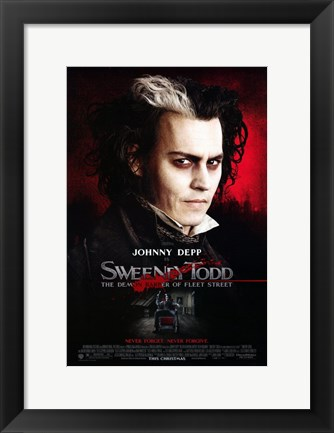 Framed Sweeney Todd Johnny Depp Print