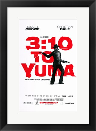 Framed 3:10 to Yuma Red Print