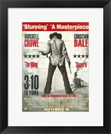 Framed 3:10 to Yuma Russell Crowe Christian Bale Print