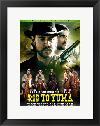 Framed 3:10 to Yuma Time Waits for No Man Print