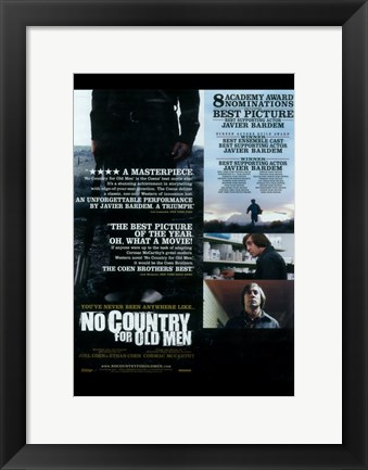 Framed No Country For Old Men Best Picture Print