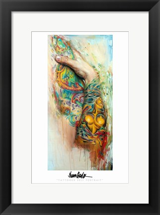 Framed Tatoo Arm Shawn Barber Print