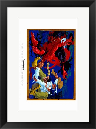 Framed Van Arno - red monster Print