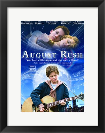 Framed August Rush Guitar Print