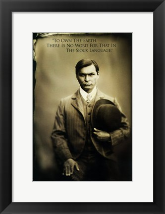 Framed Bury My Heart at Wounded Knee - man with a hat Print