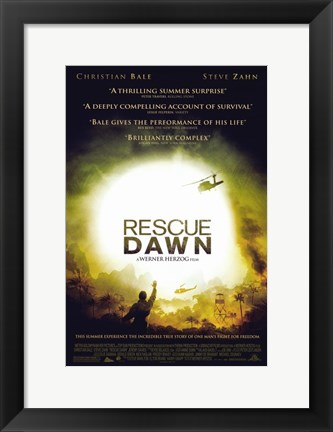 Framed Rescue Dawn Print