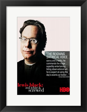 Framed Lewis Black: Red White and Screwed Print