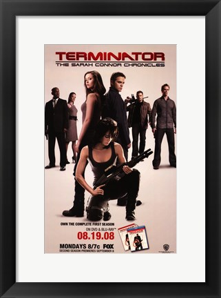 Framed Terminator: The Sarah Connor Chronicles - style D Print