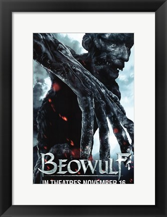 Framed Beowulf Scary Demon Print