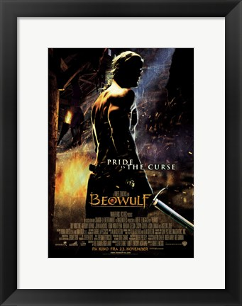 Framed Beowulf Pride is the Curse Non-English Print