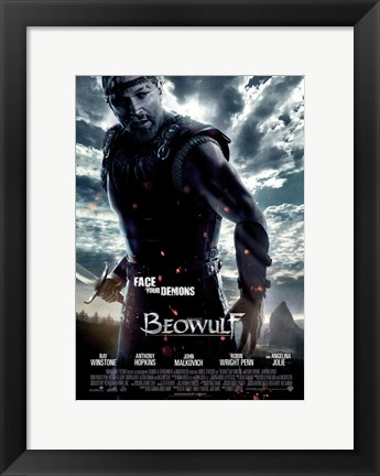 Framed Beowulf Movie Print