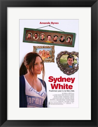 Framed Sydney White Print
