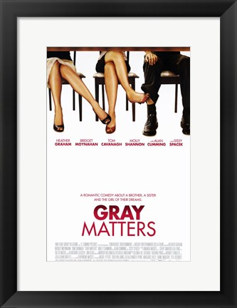 Framed Gray Matters Print