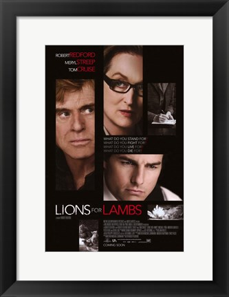 Framed Lions For Lambs Print