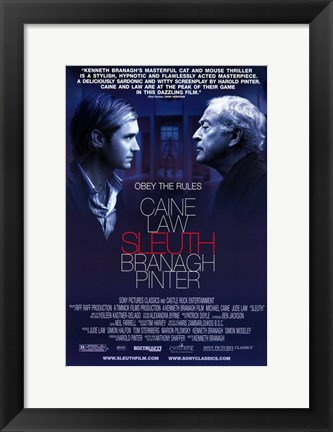Framed Sleuth Michael Caine Print