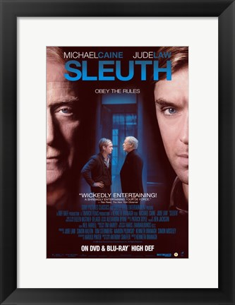 Framed Sleuth Jude Law Print