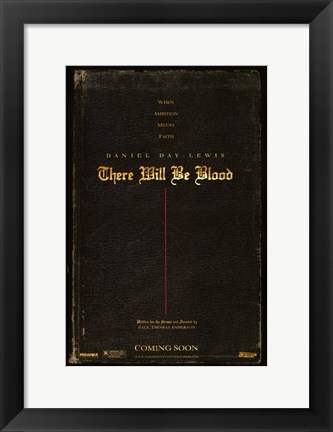 Framed There Will Be Blood Rustic Print