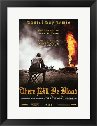 Framed There Will Be Blood Daniel Day Lewis Print
